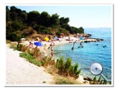 This beach is on Island Ciovo, near our apartments