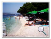 Beach 200 m from our apartments with caffe bar