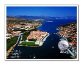 View of town Trogir from air